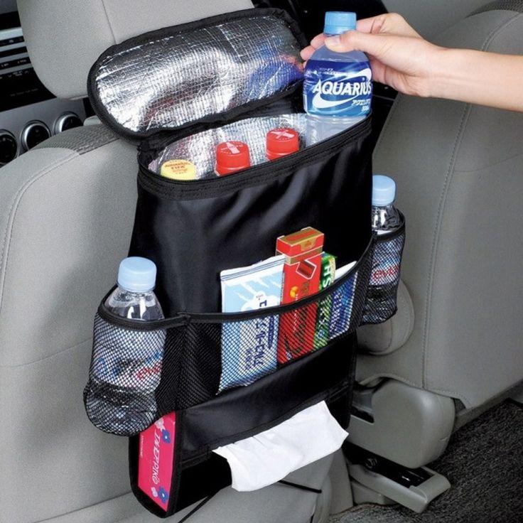 Tas Penyimpanan Asi Kursi mobil Kembali Kursi Organizer Terisolasi kembali Minum Pemegang Botol Tas Pendingin Keren Wrap dengan Mesh kantong