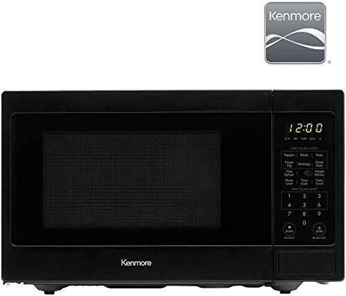 New Kenmore 70929 0 9 Cu Ft Small Compact 900 Watts 10 Power Settings 12 Heating Presets Removable Turntable Ada Compliant Countertop Microwave Black Onlin In 2020 Kenmore Countertop Microwave Small Compact