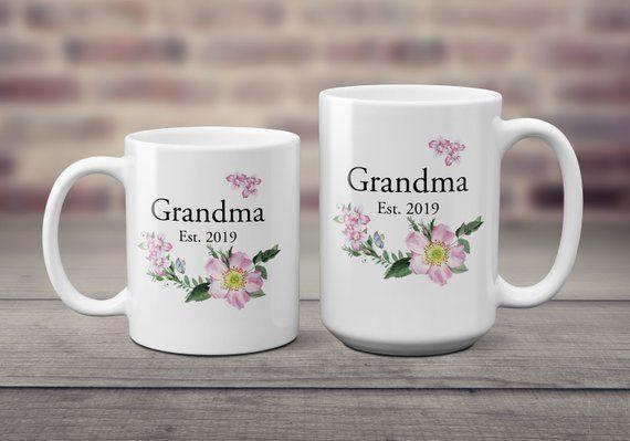 0e944bf601c1c Future Grandma Gift Grandparent Mugs Pregnancy Reveal To | Etsy ...
