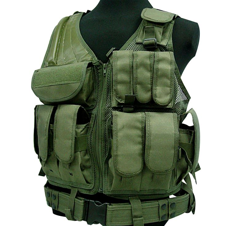 Military Combat Tactical Vest With Molle System