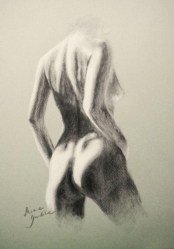 ORIGINAL DRAWING  Female nude 25 by Milena Gawlik by NudeSpirit