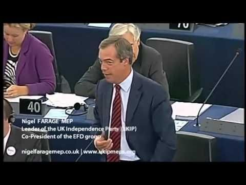Nigel Farage - Confronts Herman Van Rompuy, José Manuel Barroso & Martin Schulz - YouTube