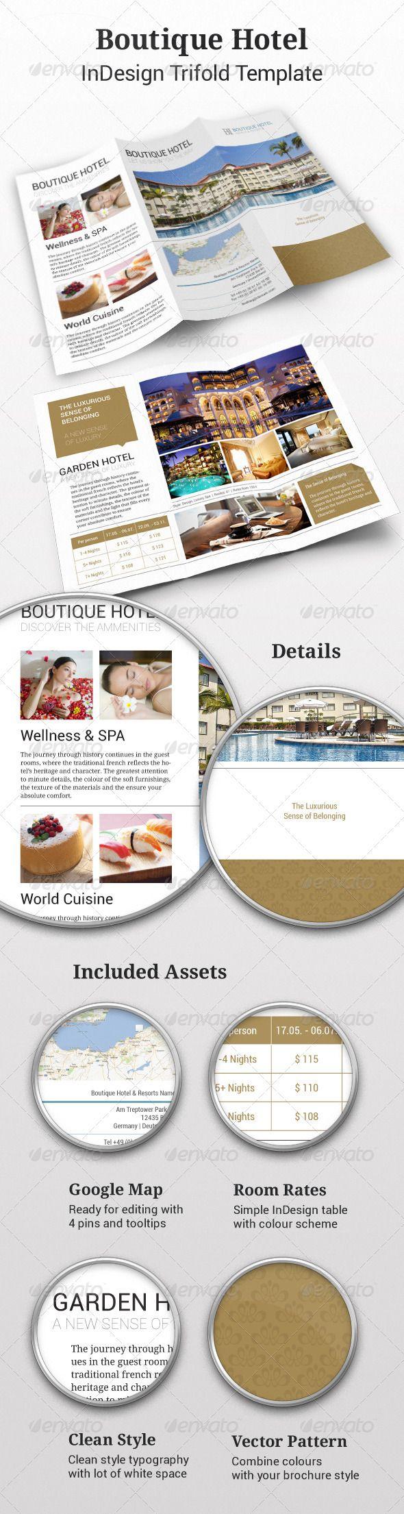 Tri-fold: Boutique Hotel InDesign Brochure - Corporate Brochures