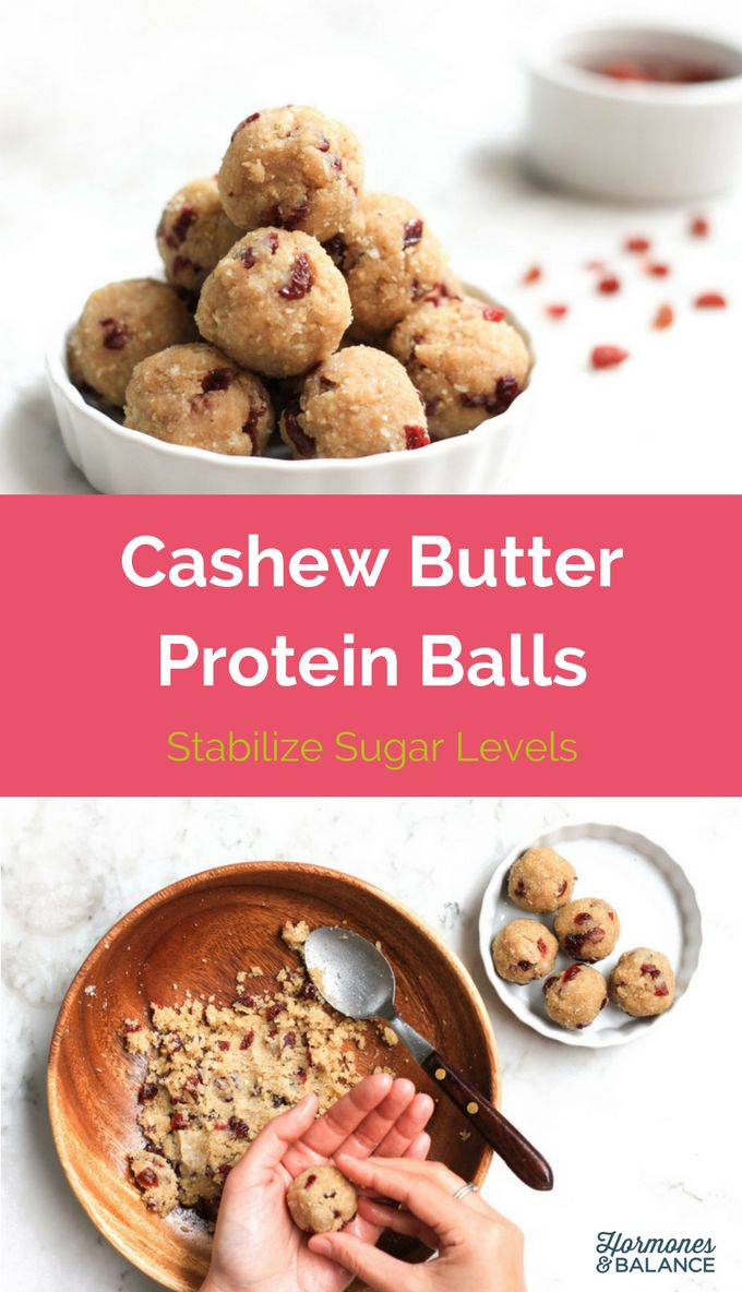 The Cashew Butter Protein Ball recipe is a satisfying before-bed snack you will love and it will help you sleep.  Helps to stabilize sugar levels.  Good for a anti-candida diet.