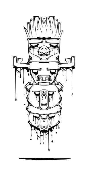 my first design, totem pole