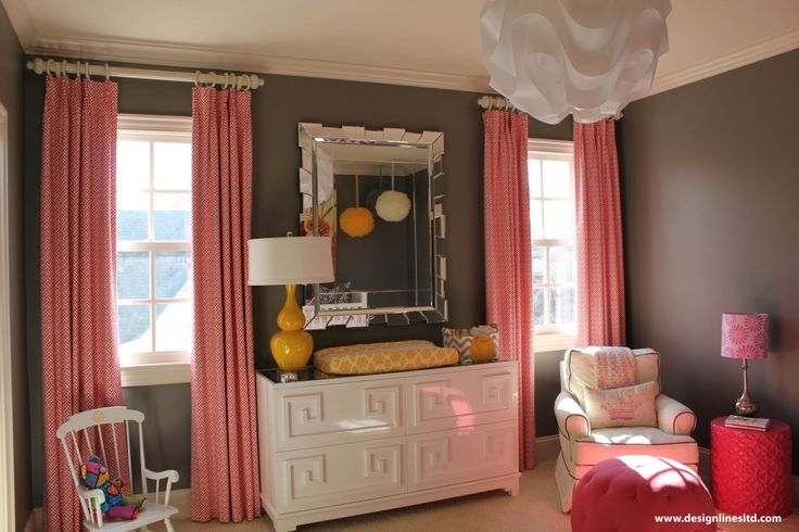 103 Best Images About Nursery Ideas Orange Hot Pink