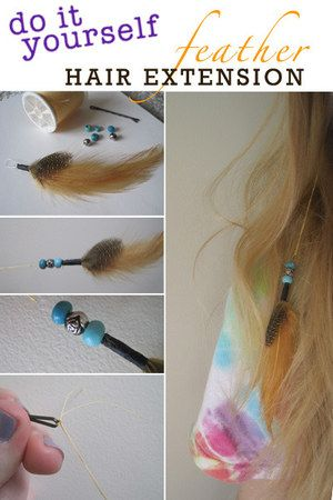 9 best hair diy images on pinterest feather extensions hair do it yourself clippin in feather hair extension solutioingenieria Choice Image