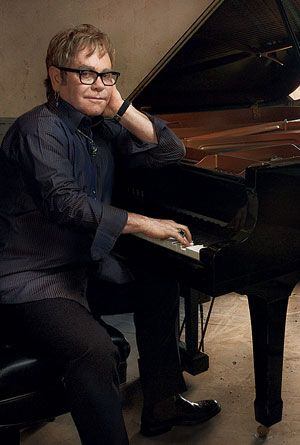 Annie Leibovitz Captures Moment in Time with Elton John in Front of Yamaha Pianos