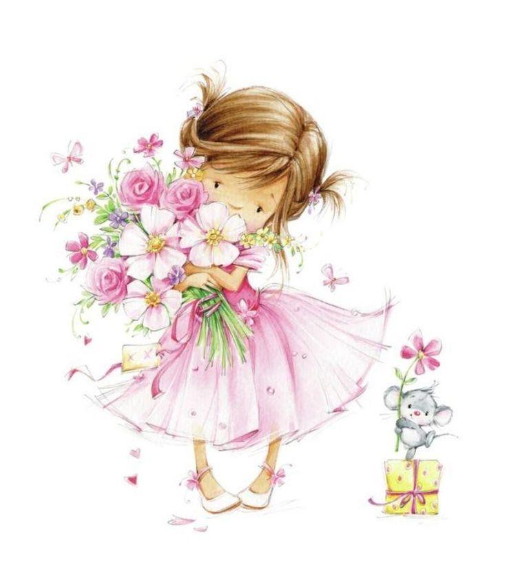 Открытки с днем рождения для девочек на русском