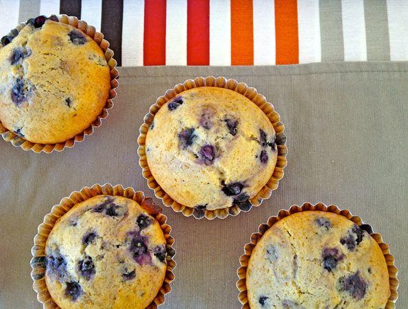 Blaubeer Muffins fructosefrei und vegan