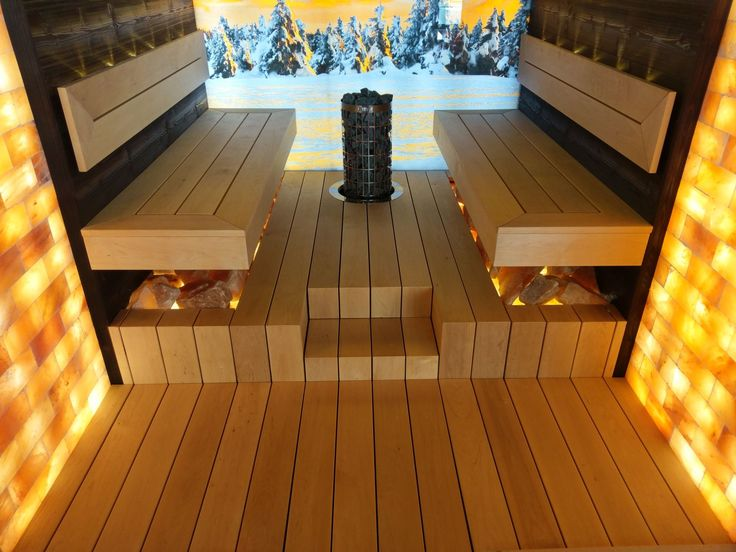 Sauna uscata privata IBEK pentru 4-6 persoane: Interior sauna din molid finlandez termotratat, antichizat moderat, periat/fibra scoasa, vopsit negru cu vopsea speciala pentru interioare de sauna, banci din lemn de arin. Pereti de sare din Pakistan, suprafata de sticla de 8 mm grosime, printata/imprimata cu poza, termorezistenta, securizata, iluminata, front sauna din sticla clara de 8 mm. grosime, securizata, termorezistenta.  www.saune.ro