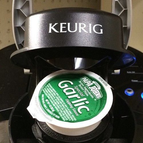 Better use for a keurig: garlic sauce. For the record ...