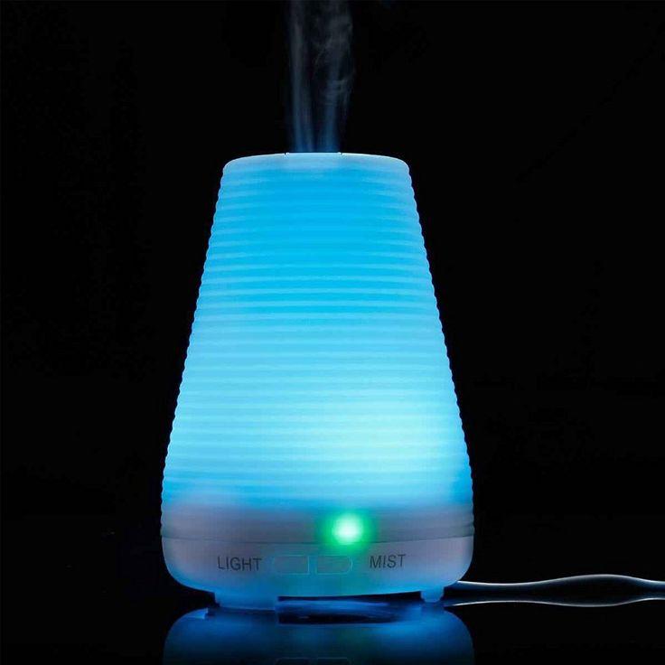 #Homecube - #Umidificatore ad Ultrasuoni / #Diffusore di Aromi / Diffusore di Oli Essenziali, 7 colori LED