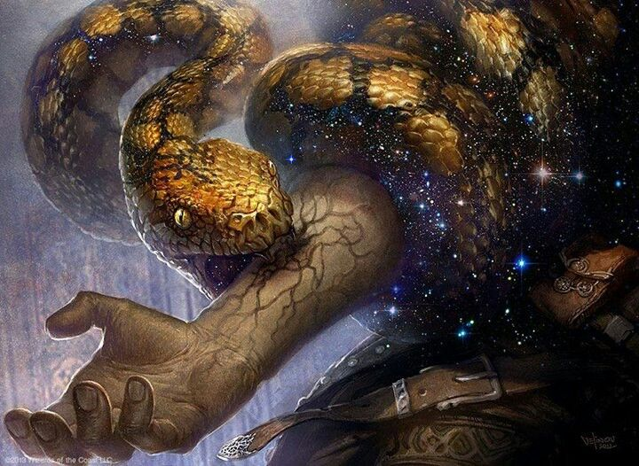 The sacred snake.