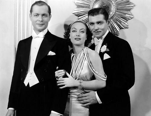 Robert Montgomery, Joan Crawford, and Clark Gable