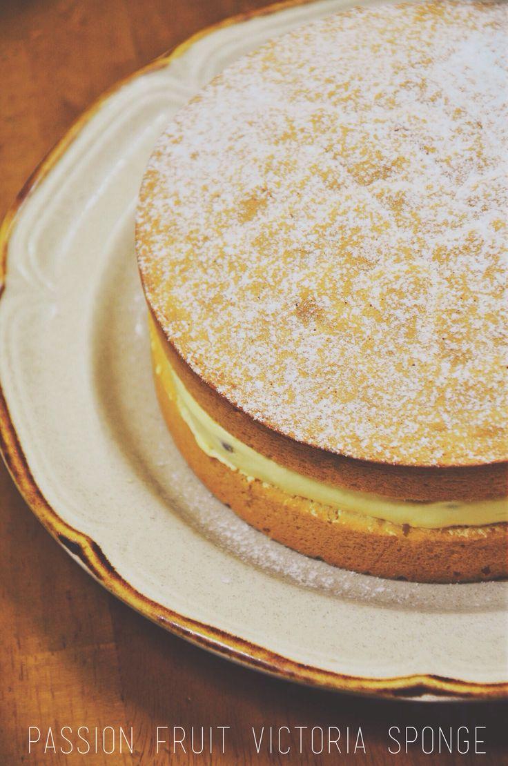 #passionfruit #victoria #spongecake