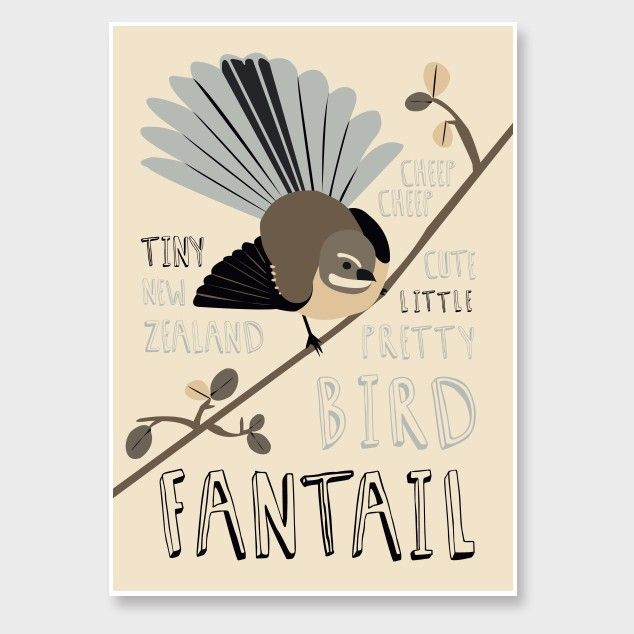 Fantail Art Print by Alice Berry