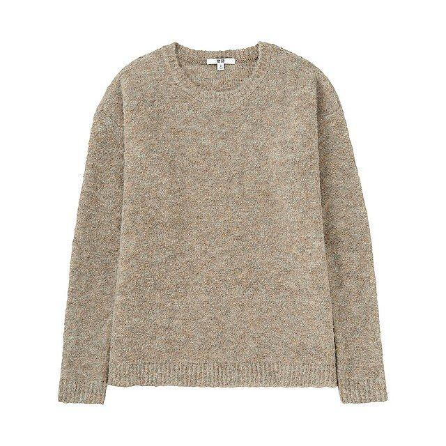 WOMEN Boucle Crew Neck Sweater-UNIQLOUKOnlinefashionstore