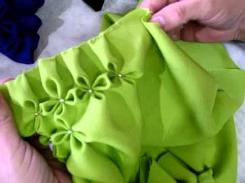 Beautiful Cushions with Canadian smocking, video tutorial