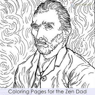 Κυριακή στο σπίτι...: Coloring Pages for the Zen Dad
