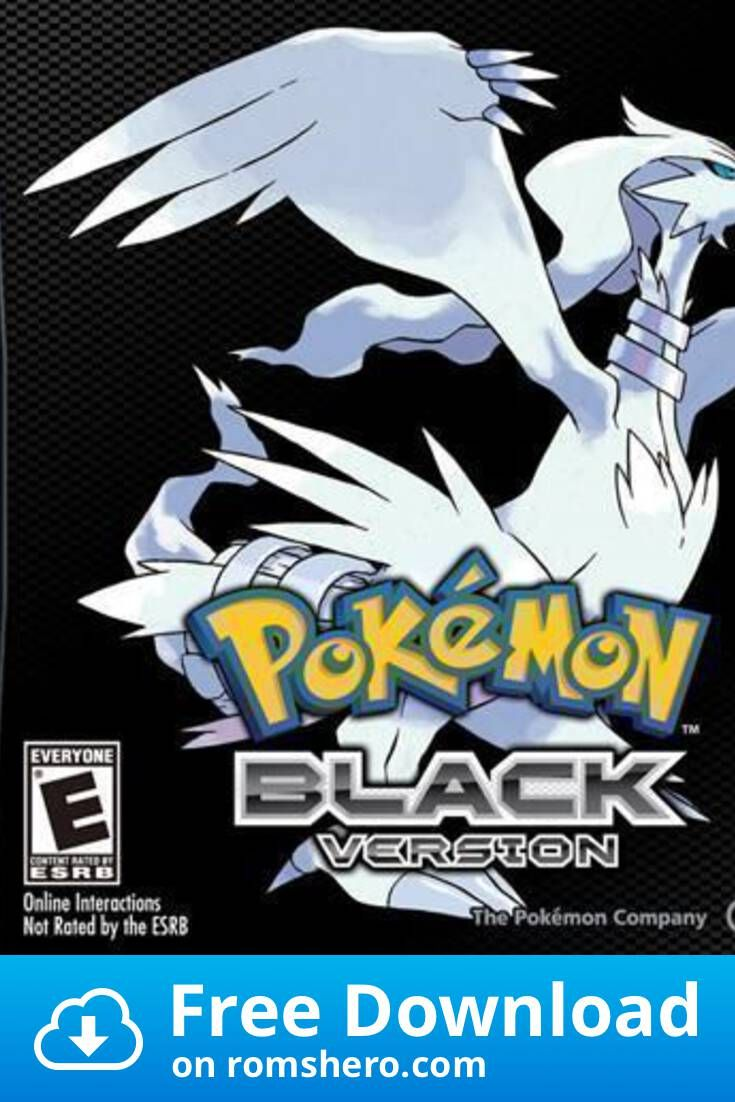 Download Pokemon Black Version Nintendo Ds Nds Rom Nintendo Ds Black Pokemon Pokemon