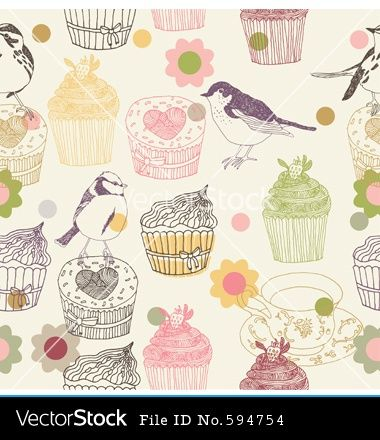 E792e88be13aaed6f7c881a7cae12a9a 380x440 Kitchen WallpaperVintage CupcakeDessertsCupcakesPostresDesertsDessertSweets