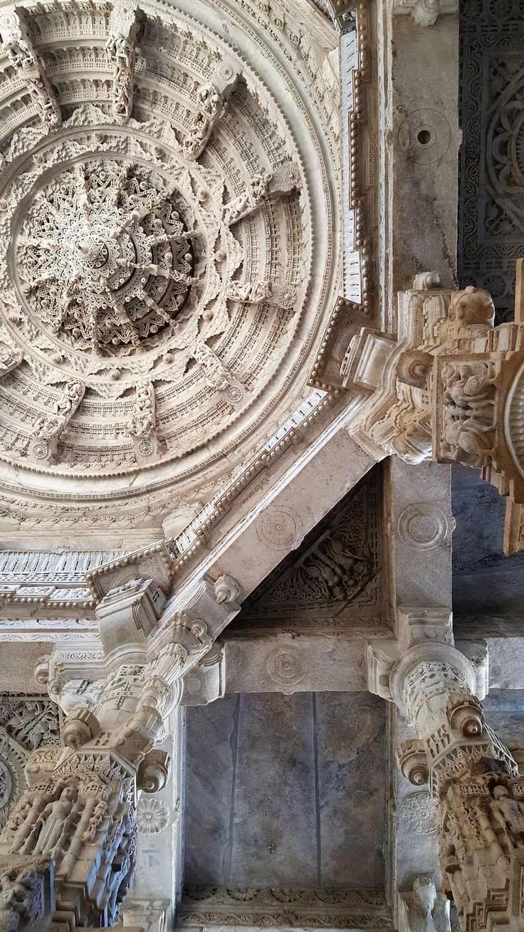 The intricate ceiling at Ranakpur Temple. Ranakpur, Rajasthan, India. Katiesargentdesign.com