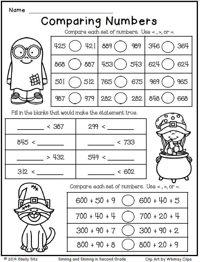 halloween math for second grade comparing numbers free math grade 2 nbt1 4 place value. Black Bedroom Furniture Sets. Home Design Ideas