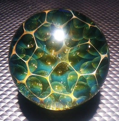 Handmade Marble by Jason Holley Borosilicate Boro Art | eBay This is something I would love to collect. I simply love the beauty that is contained in these glass orbs.