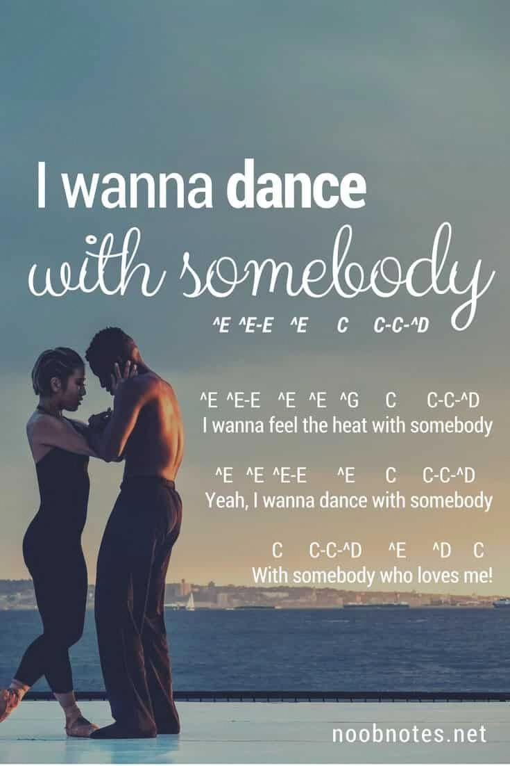 I Wanna Dance With Somebody Whitney Houston Letter Notes For