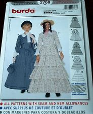 pattern for Cosette - Burda Pattern 2768 Misses Historical Costume, Circa 1848 Dress Sz 10-26