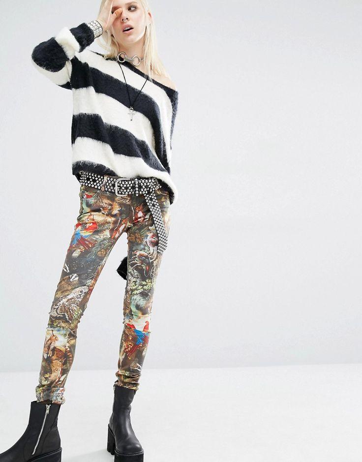 Bild 4 von Tripp NYC – Wildlife – Bedruckte schmale Jeans