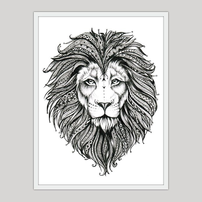"""Lion 2"" Print by Alina Bogachuk"