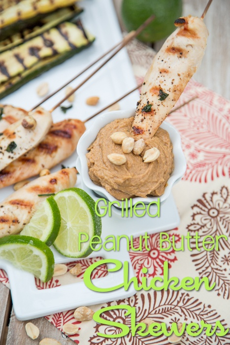 Grilled Peanut Butter Chicken Skewers – Blissfully Domestic – Okay, so I caved and shared a classic chicken skewer, but the peanut sauce that you dip them in is out-of-this-world! Plus, you couldn't have a quicker weeknight meal with these skewers.