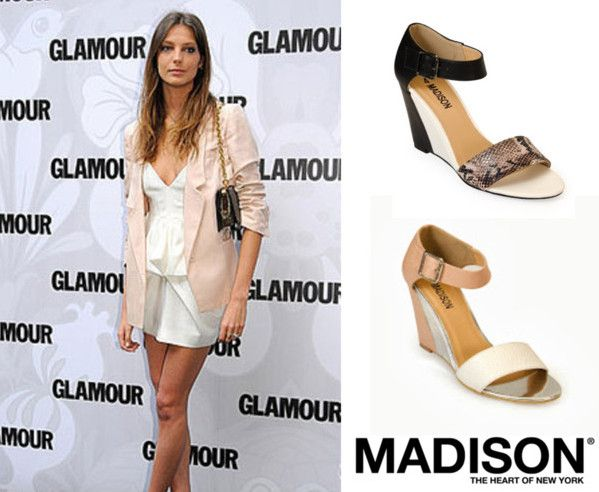 Daria Werbowy is pastel perfect in the Charlotte from www.madisonheartofnewyork.com follow us on Twitter @Madison Shoes SA