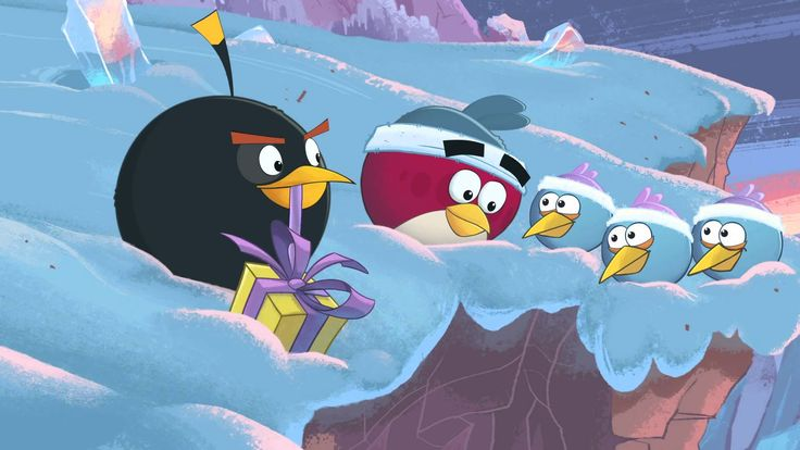 Angry Birds Wreck The Halls animation