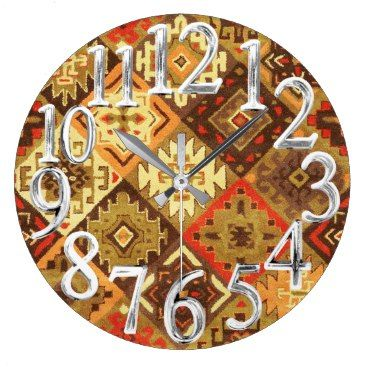 "Title : 761, Tribal, Geometric, Calico Large Clock  Description : Tribal-Geometric-Ethnic Patterns, include Stripes, Arrows, Triangles, Animal-Drawings, ""Woodland-Animals, Floral, Cross, Circles, Plus Signs, Broken Checks, Abstract, ""Spiritual-Inspired"", ""Sacred-Geometric-Shapes, ""Symbolic-Shapes, Feathers, Mystique, Spirits, ""Indian-Language-Symbols"", ""Native-American Symbols"", ""Native-American-Pottery-Designs"",  Product Description : check out our sire for full description"