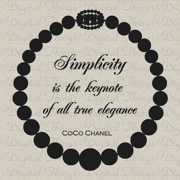 CoCo Chanel French Quote Simplicity is the by DigitalThings