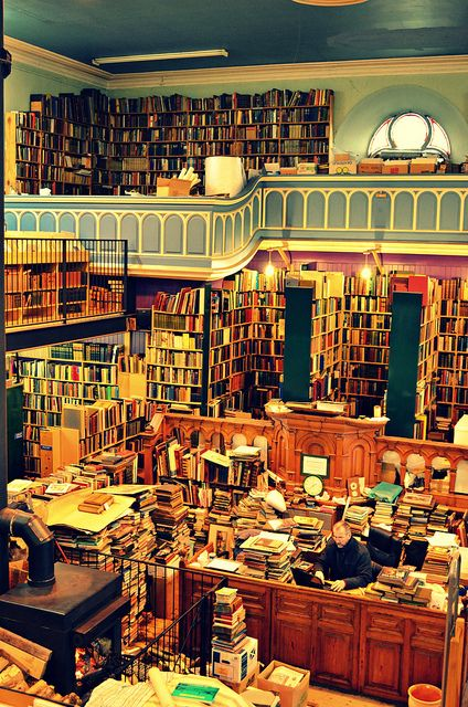 Leakey's Bookshop, Church Street, Inverness, UK. It's Scotland's largest secondhand bookshop and it's been housed for the last 20 years in the old Gaelic Church (1793)   Photo by wjharrison