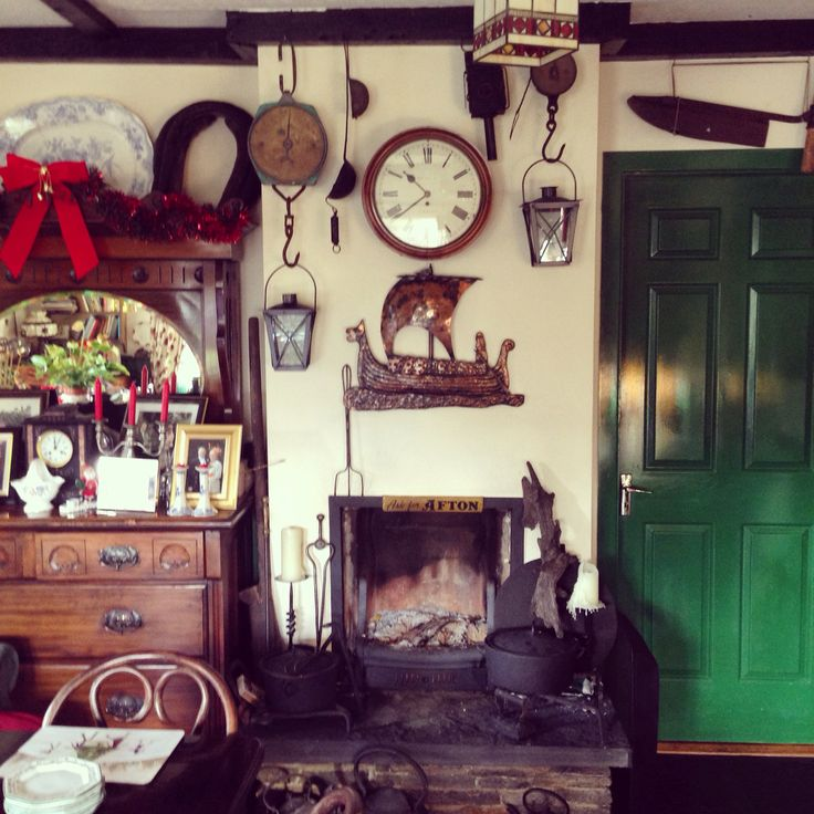 Open fire and amazing Irish antiques in my Aunt's B&B Atlantic Sunset, Doolin, Co Clare, Ireland
