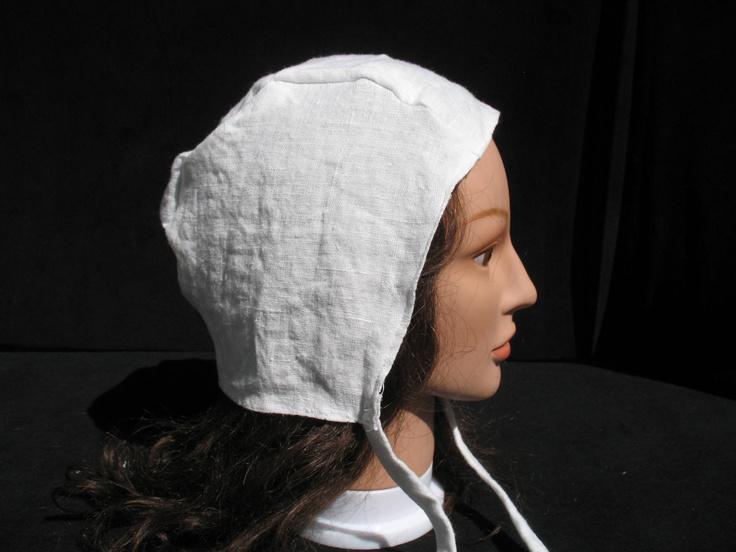 White Linen Coif Biggins Cap 10 00 Via Etsy Brigid