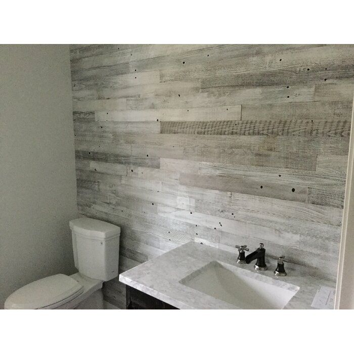3 Reclaimed Peel And Stick Solid Wood Wall Paneling Wood Wall Bathroom Wood Panel Walls Small Bathroom Decor