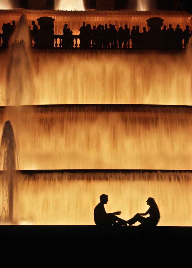 Lovers and Looker Magic Fountain of Montjuic, Barcelona