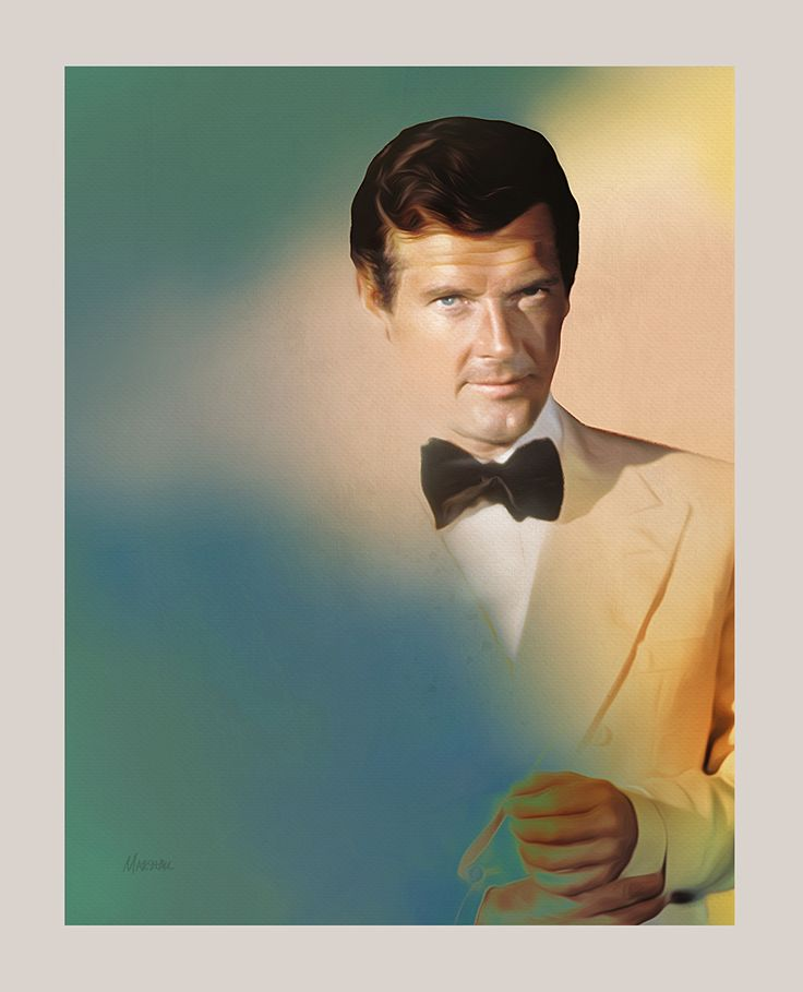 Roger Moore by Jeff Marshall
