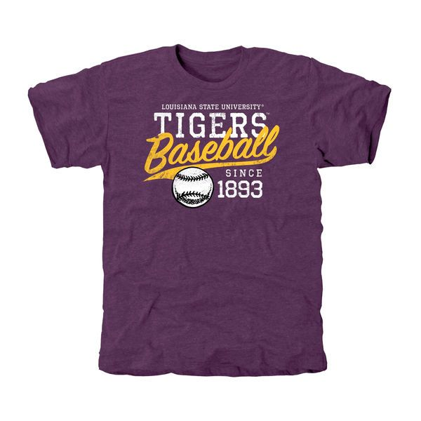 LSU Tigers Baseball Ballpark Tri-Blend T-Shirt (Purple)...