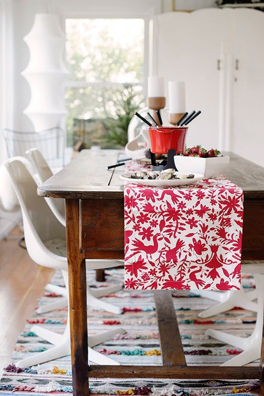sfgirlbybay entertains with holiday dinnerware For authentic, handmade, Mexican Otomi pieces, visit our website, Zinnia Folk http://Arts.com