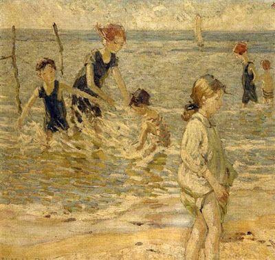 Dorothea Sharp (1874-1955), Χαρούμενα παιχνίδια στην παραλία. Ιδιωτική Συλλογή.