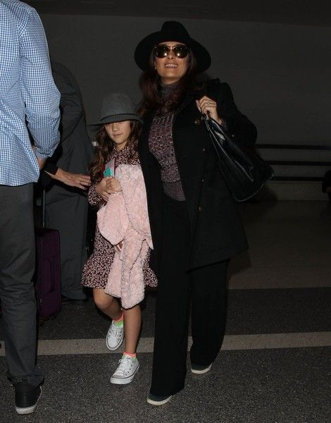 Salma Hayek Photos: Salma Hayek Catches a Flight With Her Daughter at LAX Airport
