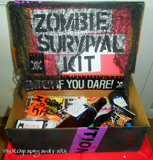Ok, let me start this off right. I love my man very much. So much so, that I made him a zombie survival kit.    I hate  zombies. Zombie mov...