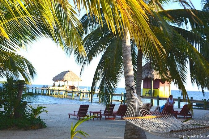 The beach  at Singing Sands Inn, Placencia, Belize